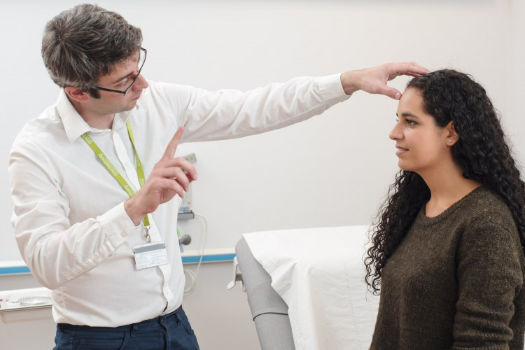 Neurological examination of patient