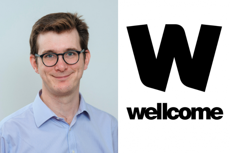 david hunt headshot and Wellcome logo