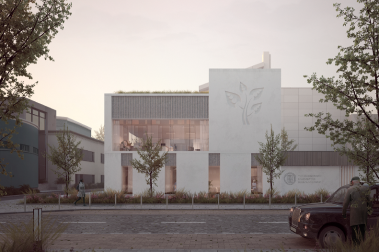 Artists impression of the new clinic building